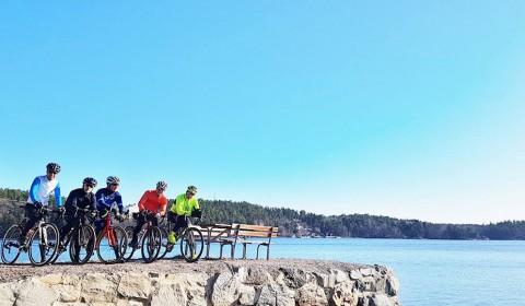 Cykelstopp Baggensfjärden