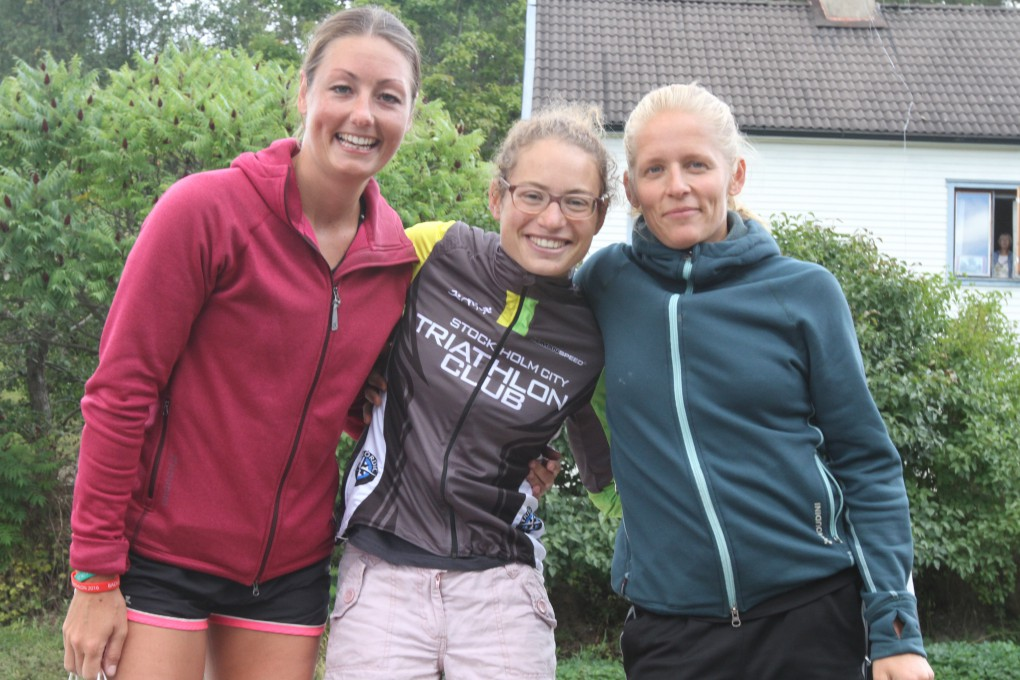Triathlettrio med fart i benen, tvåan Anneli, ettan Diane & trean Helena